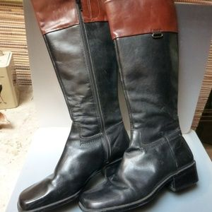 Enzo Angiolini Brown Black Leather boots sz 10